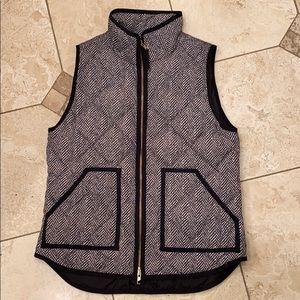 J. Crew puffer vest chevron zebra print small